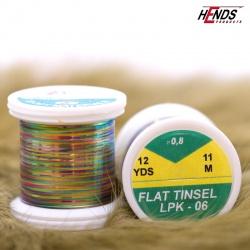 FLAT TINSEL - PEACOCK PEARL