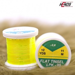 FLAT TINSEL - FLUO YELLOW PEARL