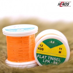 FLAT TINSEL - FLUO ORANGE PEARL