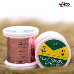 FLAT TINSEL - PINK METALIC