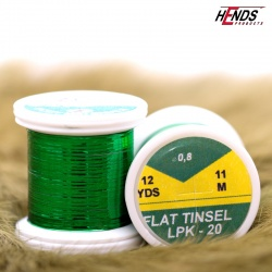 FLAT TINSEL - GREEN METALIC