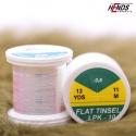 FLAT TINSEL - CLEAR COPPER EFFECT