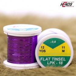 FLAT TINSEL - fialová metalická