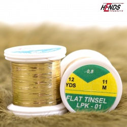 FLAT TINSEL - GOLD LT.