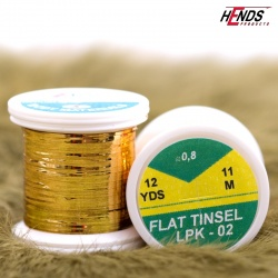FLAT TINSEL - GOLD MED.