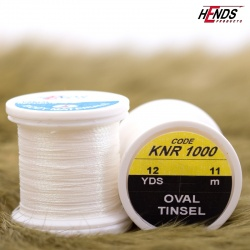 OVAL TINSEL - PEARL