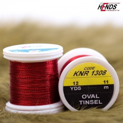 OVAL TINSEL - RED
