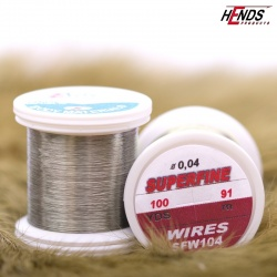 SUPERFINE WIRES 100 Yds - OCELOVĚ ŠEDÁ
