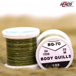 BODY QUILLS MULTICOLOR - LT. OLIVE Tip/DK. OLIVE Body