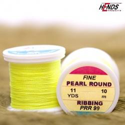 PEARL ROUND RIBBING - Pearl Fluo žlutá