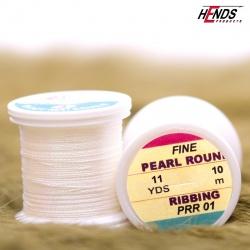 PEARL ROUND RIBBING - Pearl bílá