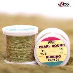 PEARL ROUND RIBBING - Pearl olivová světlá