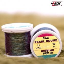 PEARL ROUND RIBBING - Pearl černá