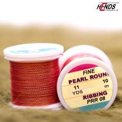 PEARL ROUND RIBBING - Pearl červená