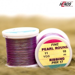 PEARL ROUND RIBBING - Pearl fialová