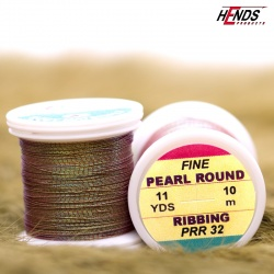 PEARL ROUND RIBBING - Pearl Olivebrown Dk.