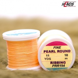 PEARL ROUND RIBBING - Pearl Fluo Oranžová světlá