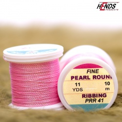 PEARL ROUND RIBBING - Pearl růžová