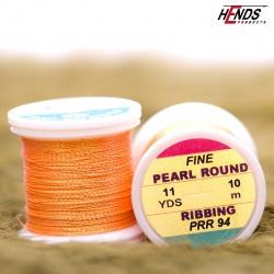 PEARL ROUND RIBBING - Pearl Fluo Orange Dk