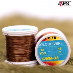 COLOUR WIRE - CWS33 - HNĚDÁ pr. 0,09 mm