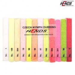 CZECH NYMPH DUBBING BOX - BRITE - 12 COLOURS