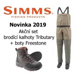 Tributary set (kalhoty Stockingfoot + boty Freestone)