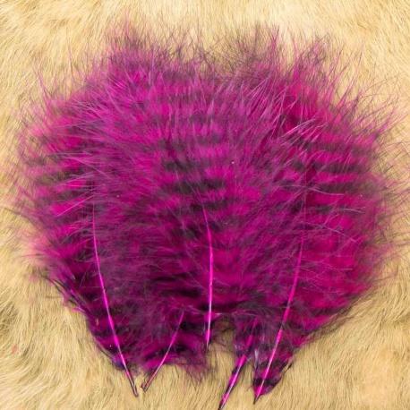 GRIZZLY MARABOU - fialová/černě pruhovaná