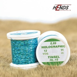 HOLOGRAPHIC TINSEL - TURQUOISE BLUE