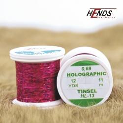 HOLOGRAPHIC TINSEL - PINK DK.