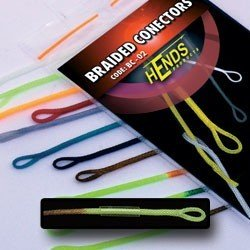 BRAIDED CONECTORS - BROWN / YELLOW FLUO