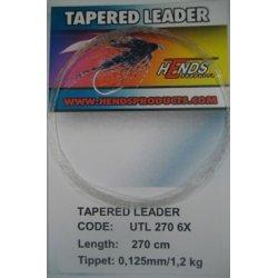 TAPERED LEADER 270 cm - 6X - 0,125 mm/1,2kg