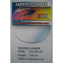 TAPERED LEADER 270 cm 4X - 0,18 mm/2,4kg
