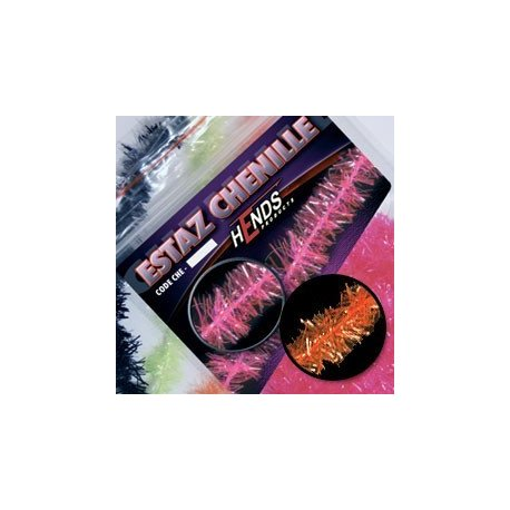 ESTAZ CHENILLE - HOT ORANGE FLUO