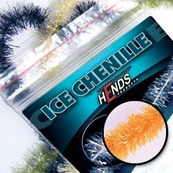 ICE CHENILLE - ORANGE FLUO