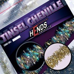 TINSEL CHENILLE - GOLD PEARL