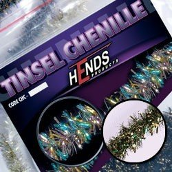 TINSEL CHENILLE - PEACOCK / BRASS