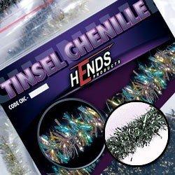 TINSEL CHENILLE - SILVER PEARL