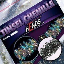 TINSEL CHENILLE - SILVER / BLACK