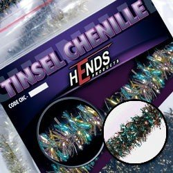 TINSEL CHENILLE - PEACOCK / BRONZE