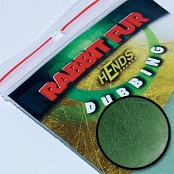 RABBIT FUR DUBBING - GREEN GREY
