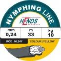 NYMPHING LINE - barva žlutá, 0,24mm
