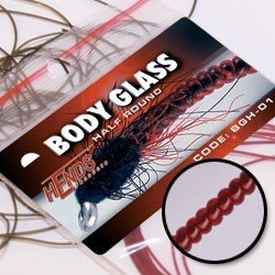 BODY GLASS HALF MICRO - KRVAVĚ RUDÁ